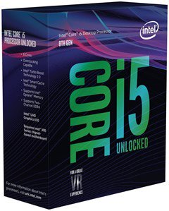 Процессор Intel Core i5 8600 BOX Coffee Lake 1151v2
